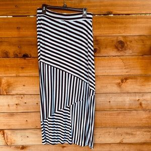 Apt. 9 black and white striped maxi skirt